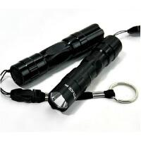 强光led手电筒 学生宿舍迷你户外随身便携式家用防水电池小手电迷你小手电筒 一只装