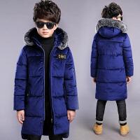 童装男童装儿童羽绒外套17新加厚棉衣大童棉袄季小孩男孩