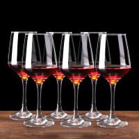 红兔子一套6只装360ML高脚杯葡萄酒杯欧式无铅水晶玻璃红酒杯香槟杯啤酒杯醒酒器杯架套装