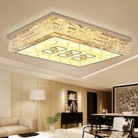 客厅灯 水晶灯 长方形led吸顶灯饰长方形大气别墅家用客厅大灯具简约现代水晶灯平板灯