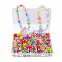 儿童手工diy串珠宝石益智玩具穿珠子手链礼物