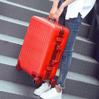 万向轮密码拉杆箱个性旅行箱铝框直角行李箱男潮20寸24寸28寸