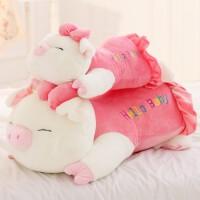 抱枕猪毛绒玩具女生娃娃公仔可爱趴趴猪玩偶睡觉抱女孩