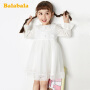【满减参考价:153.3】巴拉巴拉童装女童裙子春季2020新款小童宝宝洋气公主裙儿童连衣裙
