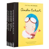 小人物大梦想系列绘本套装4册 英文原版 Little People, Big Dreams 历史名人小传记绘本 小女孩