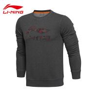 李宁卫衣男士训练系列套头衫长袖保暖圆领修身针织运动服AWDL539