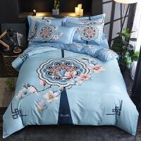 君别新中式网红四件套床单被套1.8m床双人家纺床上用品冬季