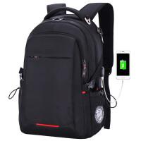 ?双肩包男士商务休闲旅行电脑包韩版女高中生学生书包背包?