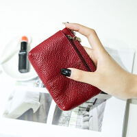 零钱包女式时尚钥匙印花手拿软皮多功能迷你卡包