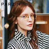 帕森新款防蓝光电脑护目镜女士金属镜框男时尚俏皮修脸眼镜 15750