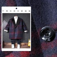 儿童毛呢外套男童秋装韩版格子呢大衣2017新款宝宝呢子大衣童装