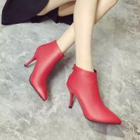 2018秋冬季新款短靴女休闲中筒靴女高跟鞋女鞋女靴子 CF gyG1280