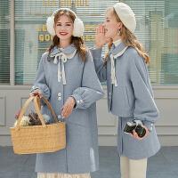 MG小象小个子显高套装洋气2019新款潮韩版宽松毛呢外套时尚半身裙