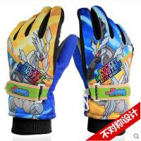 手套 儿童滑雪手套 防风保暖手套 儿童手套加厚男女棉防寒大童保暖滑雪手套 男少年手套