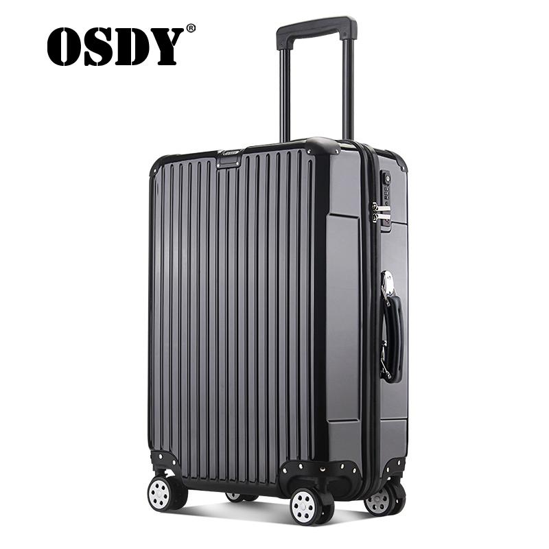 【品牌新款,可礼品卡支付】osdy拉杆箱男女通用行李箱24寸旅行箱A-935金属防撞包角,软体手人性设计!