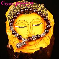 水晶密码CrystalPassWord 原创天然巴西石榴石钱袋手链女款SJMM3-015