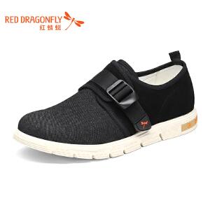 红蜻蜓男鞋2017冬季新款正品潮流运动休闲鞋布鞋学生透气板鞋子男