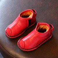 男宝宝棉鞋2017季新款1-2-3-4-5-6岁儿童加绒皮鞋女孩雪地靴潮