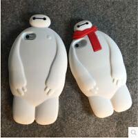 大白iPhone5/5S手机壳iPhone6/6s卡通硅胶套4s立体苹果6 plus/6splus外壳