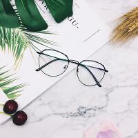眼镜防蓝光大脸圆脸眼镜框女士韩版潮透明平光镜眼睛框镜架