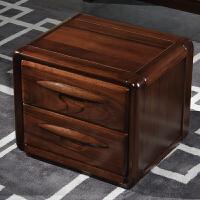 实木床金丝黑胡桃木床原木1.8米双人床新中式气压高箱储物