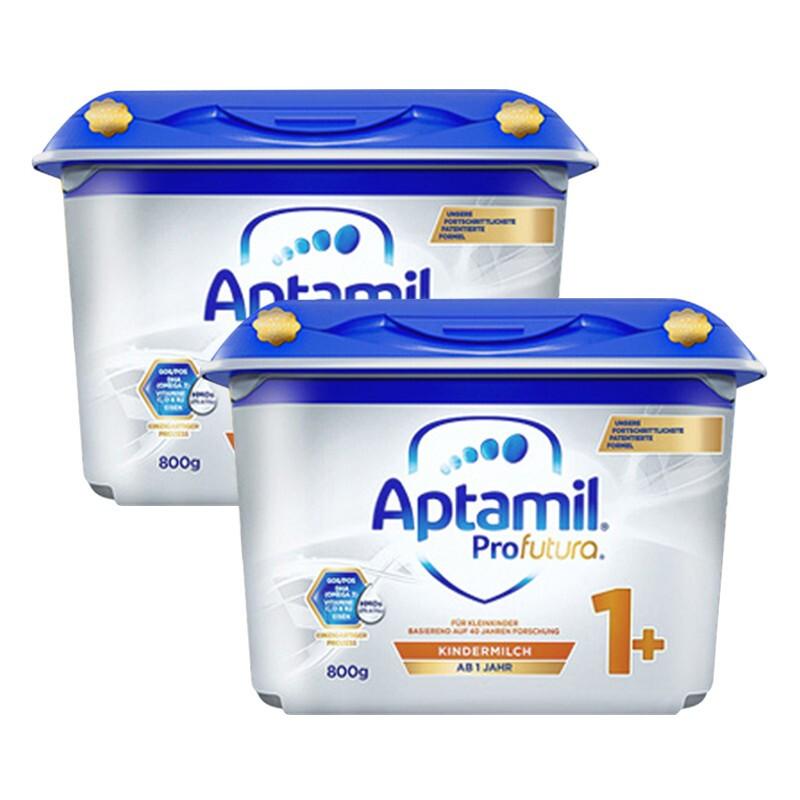 保税区发货 德国爱他美Aptamil婴幼儿配方奶粉白金版1+段(1岁以上)800g*2罐