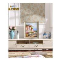 迪上 韩式田园电视柜现代欧式法式烤漆组合美式实木抽屉客厅家具 组装