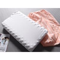 健康舒适水洗棉枕套按摩护颈椎高回弹波浪形天然乳胶记忆枕头1.3