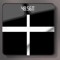 20191213061124962升级款十字黑USB充电电子称体重秤家用人体秤迷你精准减肥称重计测体重器