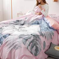 全棉四件套纯棉韩版大版印花床单被套1.5m学生单人床上套件