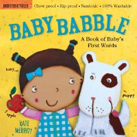 【现货】Indestructibles: Baby Babble 无毒可咬儿童绘本 宝宝呀呀学语 平装小本