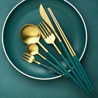 光一超值试用 欧式吃牛排的刀叉勺三件套装筷子不锈钢家用高档全套网红西餐餐具