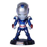 综漫 钢铁侠手办MK42可发光模型Q版动漫公仔儿童玩具 车载摆件