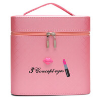 化妆包可爱双层手提化妆箱大号护肤化妆品多层收纳盒小方包