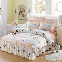 君别新款床裙四件套床罩床笠式床上用品简约床套被套春夏秋冬