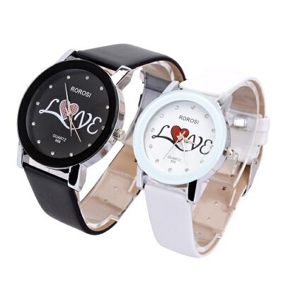 情人节礼物韩版学生情侣手表一对价皮带防水潮流男女石英简约中学