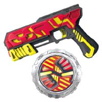 灵动创想魔幻陀螺4枪双核新款梦幻四代战斗盘王3儿童玩具发光全套