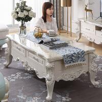 欧式茶几电视柜组合大理石客厅简约小户型地柜实木家具套装简欧 组装