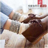 袜子女网红时尚潮流加厚中筒袜韩版学院风户外新品堆堆袜长袜棉袜女纯棉保暖