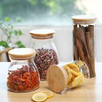 光一透明创意密封玻璃瓶子家用厨房装糖罐储物五谷杂粮食品收纳盒带盖
