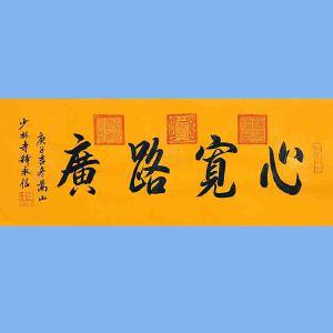 第九十十一十二届全国人大代表,中国佛教协会第十届理事会副会长,少林寺方丈释永信(心宽路广)