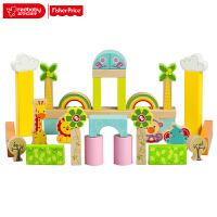 费雪木制积木玩具大颗粒桶装儿童积木1-2-3-6周岁男女孩宝宝启蒙益智 FP6004A