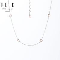 ELLE 饰品 闪耀之星 不规则925银镶锆石项链 3059100