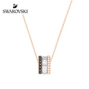 SWAROVSKI/施华洛世奇 2017 HINT简约现代叠搭混搭锁骨链 女友礼物 镀玫瑰金色 5353666