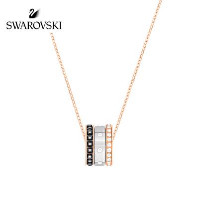SWAROVSKI/施华洛世奇 2017 HINT简约现代叠搭混搭锁骨链 女友礼物 镀玫瑰金色 5353666正品保障(可使用礼品卡)