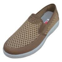 欣清夏季日常休闲老北京布鞋 男款洞洞鞋新款帆布鞋透气鞋男凉鞋