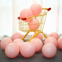 马卡龙色生日气球 糖果色加厚圆形结婚生日气球主题派对梦幻色创意婚房布置装饰气球婚庆气球 桔色 桔红 约50个
