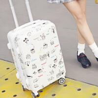 旅行箱万向轮小清新20寸行李箱女韩版学生杆箱24寸男个性密码箱 条纹 22寸 收藏礼+终身保修