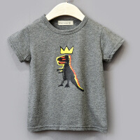男童短袖T恤小童夏款T恤衫恐龙童装1-3-54岁宝宝夏季儿童小孩夏装 图片色