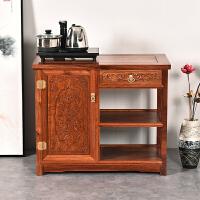 木木茶水柜 中式实木餐边柜碗柜厨房柜子橱柜小茶台 单门